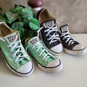 Converse All Star 2pc lot black mint green M3 - W5